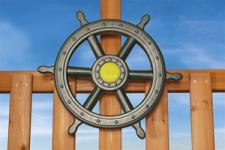"""LARGE SHIPS WHEEL - 18.5"""""""